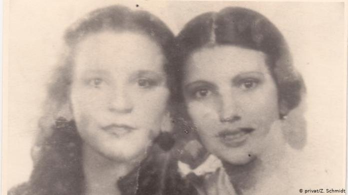 Close-up of Tilla and Zilli as young women