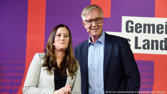 Janine Wissler and Dietmar Bartsch, co-chairs of Germany's Left party