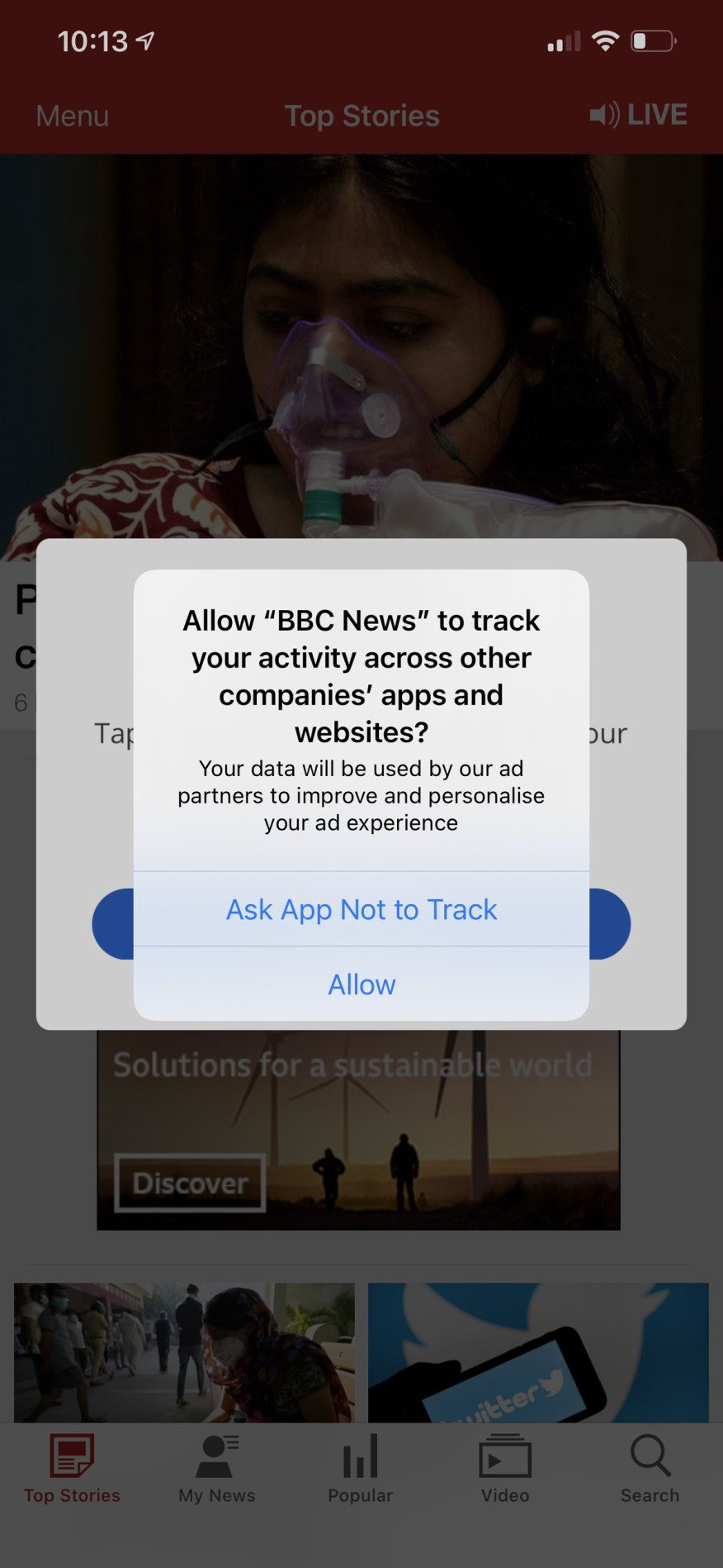 It's up to you now whether or not to allow each app to follow you.