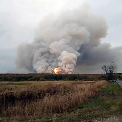 Ситуация на военном складе в Рязанской области остаётся сложной