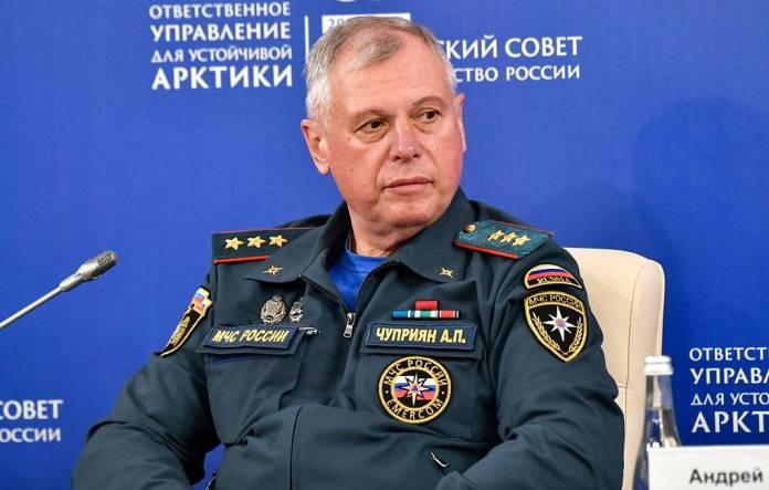 Путин назначилгенерал-полковника внутренней службы Александра Чуприянаврио главы МЧС