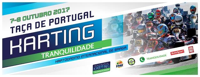 Taça de Portugal de Karting Tranquilidade a 7 e 8 de Outubro em Braga
