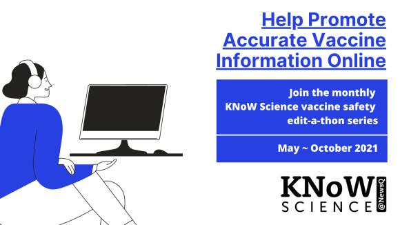 NewsQ KNoW Science Wikipedia Vaccine Event