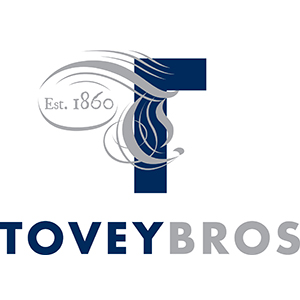 Tovey Bros Logo centred version - pantone 289U & 877U