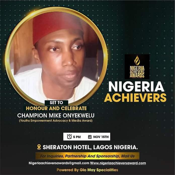 Nigeria Achievers Award Sets To Honour Champion Mike Onyekwelu