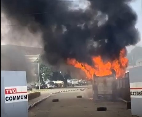 ICYMI: See Video Of Moment TVC Was Set On Fire
