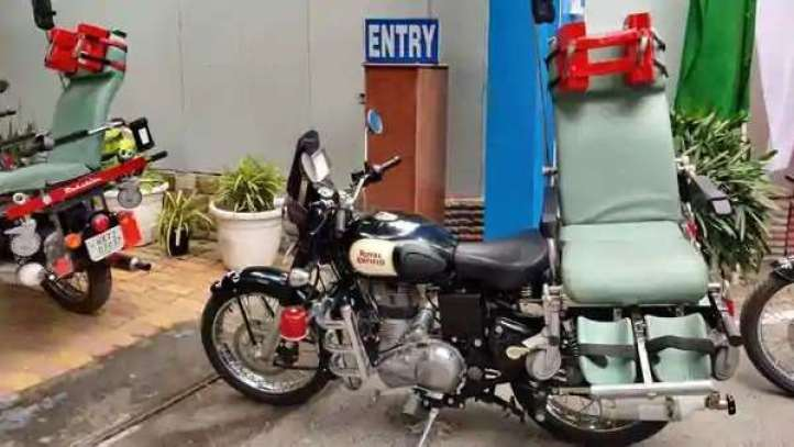 Royal Enfield Classic 350 built ambulance, hospital will deliver soldiers on time