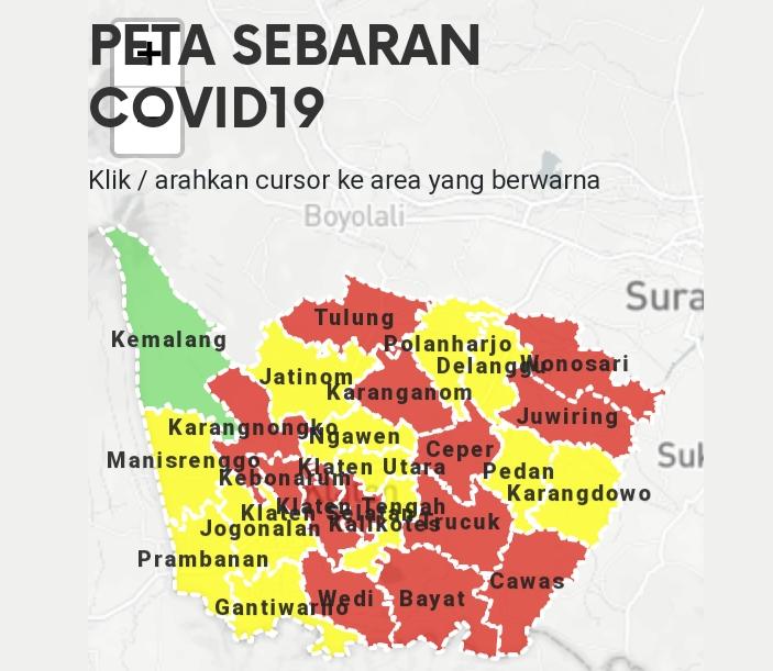 13 Kecamatan di Klaten Masuk Zona Merah