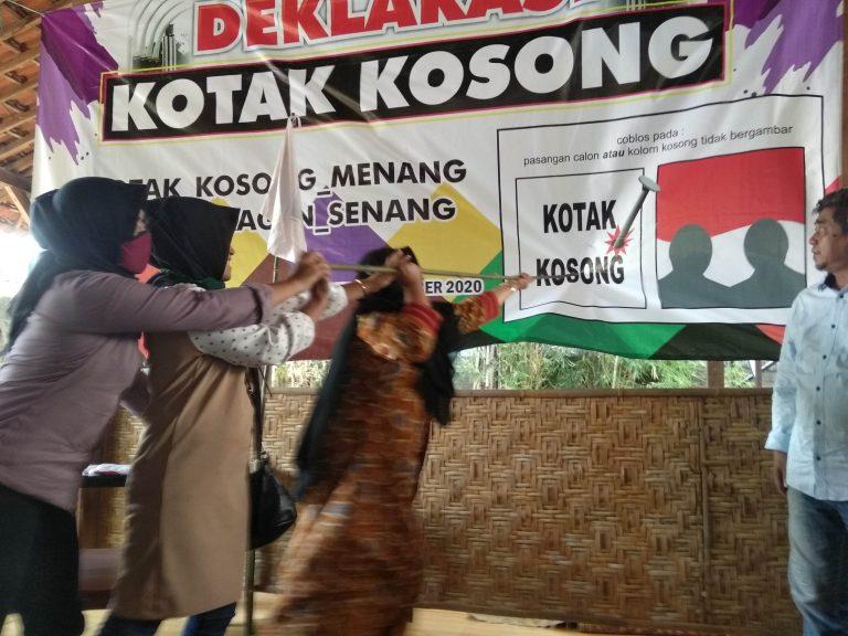 Elemen Masyarakat Sragen  Deklarasi Dukung Kotak Kosong