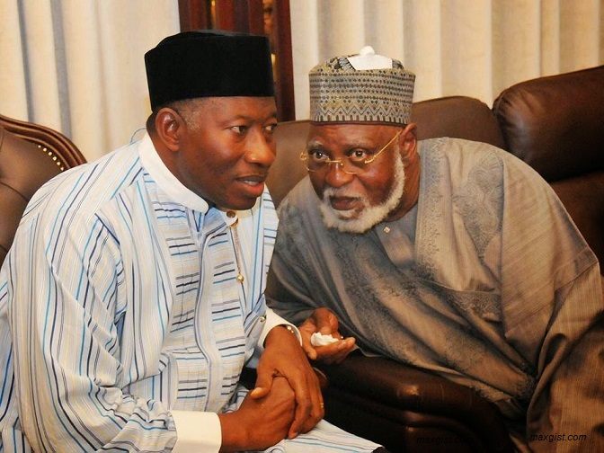 Former president's Abdusalami and Jonathan of the PDP