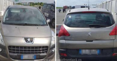Peugeot 3008 căutat de autoritățile din Italia, descoperit la Nădlac