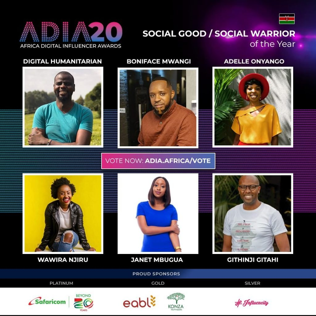 Dr Githinji Gitahi, nominated for the Africa Digital Influencer Awards: Social Good and Social Warrior of the Year.