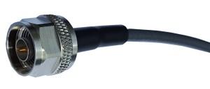 N-Stecker mit Belden H 155 Low Loss Koaxialkabel