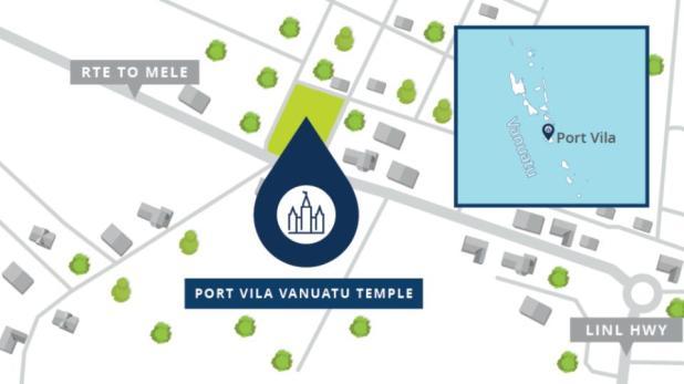 Port Vila Vanuatu Temple Map 2