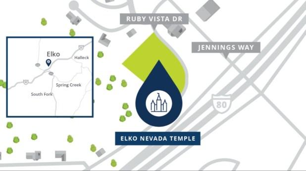 Elko-Nevada-Temple-Location-Map