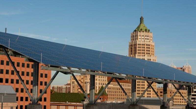(Image) solar panels downtown San Antonio