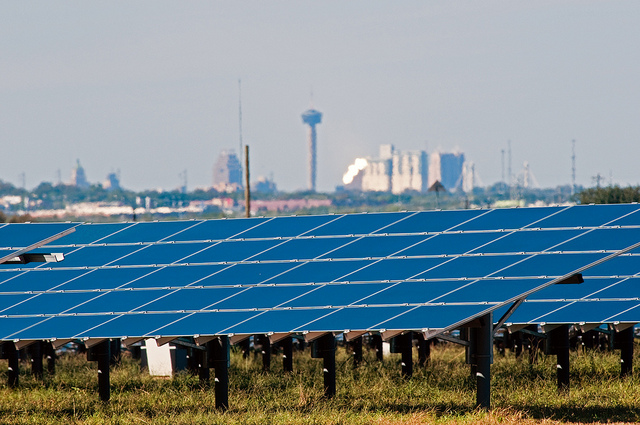 (Image) CPS Energy's commitment to reducing emissions includes investing in solar power.