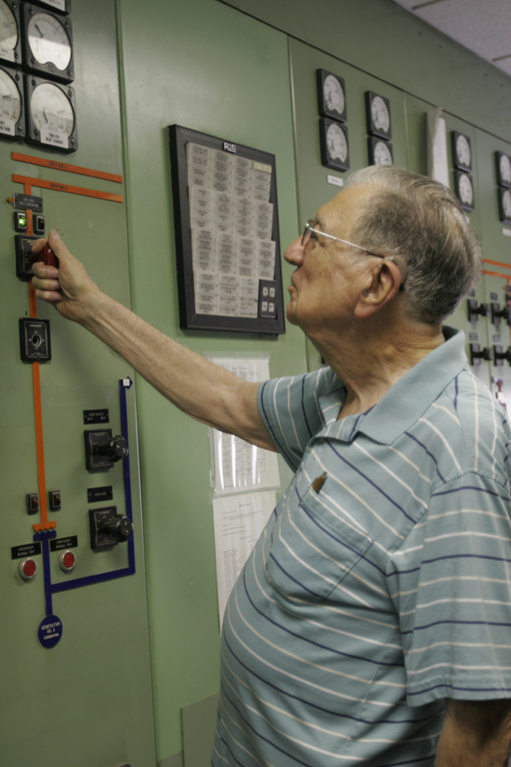 (Image) Louis Sengele, who retired from CPS Energy in 1993 with 45 years of service, was a Production shift supervisor and the first employee to bring the Tuttle Plant online.