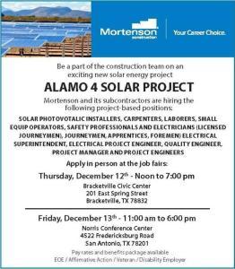 Alamo 4 job flyer