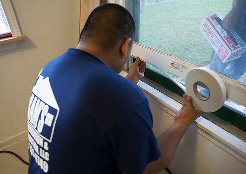 Seals on windows and doors reduce air infiltration in the home.