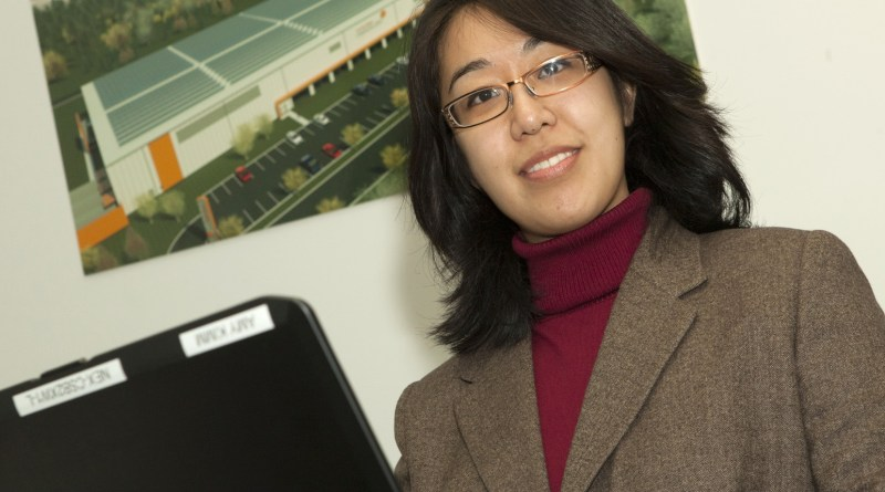 (Image) Amy Kimm does business development for Mission Solar.