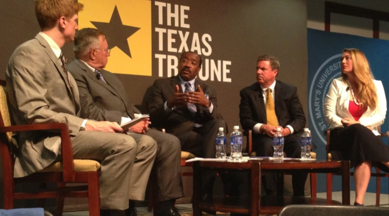 (Image) CEO Doyle Beneby talking about the future of Texas' energy grid at a recent event.