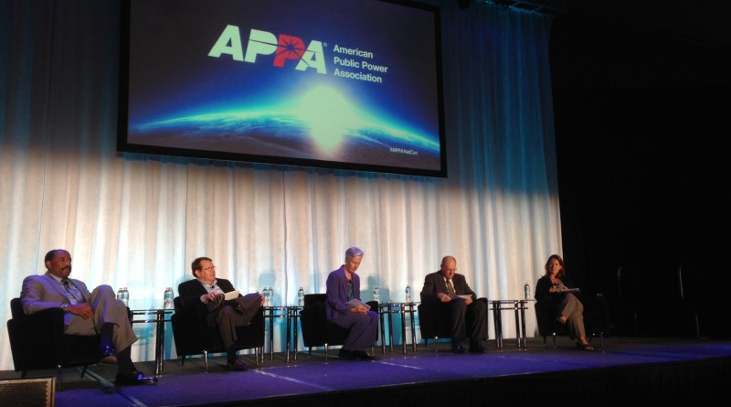 (Image) APPA CEO Doyle Beneby talked about the future of utilities and distributed generation at APPA.