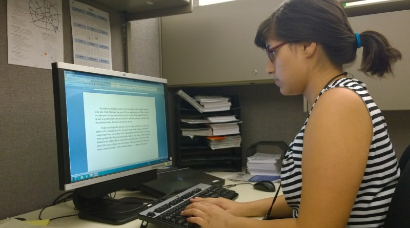 (Image) Intern Fritzi Davis works for a second summer at CPS Energy.