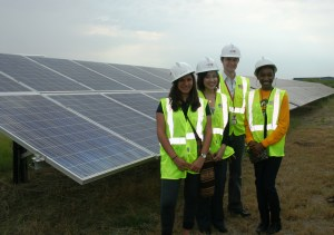 (Image) Interns at Blue Wing Solar Farm geared up with their personal protective equipment.