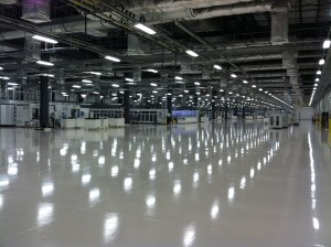 """Mission Solar's cell manufacturing area is 90,000 sq. ft. and """"clean."""""""