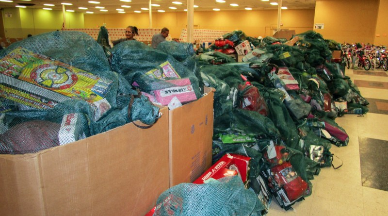 (Image) AngelTree Delivery. CPS Energy employees donated nearly three truck loads of toys and bikes for 900 children in the Angel Tree program.