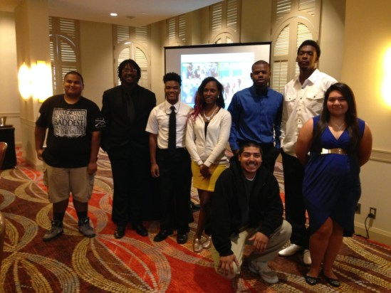 (Image) Graduates of Sam Houston High School are recognized at the end of year Inspire U luncheon.
