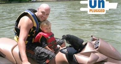 (Image) Chuck Francis and his son share a trip on Lake Placid, before the accident.