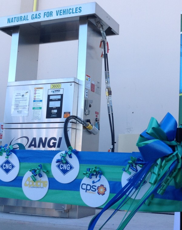photo of CNG fueling station