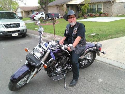 Ray on his bike