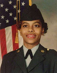 "Chawana ""Missy"" Wilson served in the U.S. Army from 1990 to 1998"