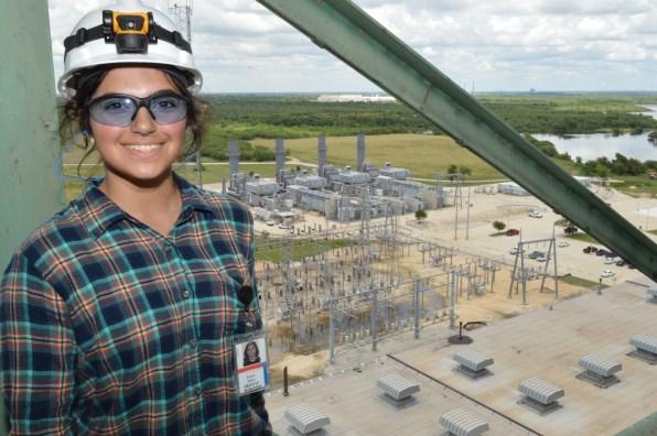 Elaina Alfaro at power plants