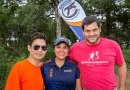 (Image) Johnny Garza, General Business Analyst, Nancy Tabares, Community Field Service Representative and Hugh Farr, Chief Development Officer at BBBS, at the 2017 golf tournament.