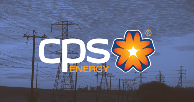 CPS Energy logo with a blue outdoor backdrop