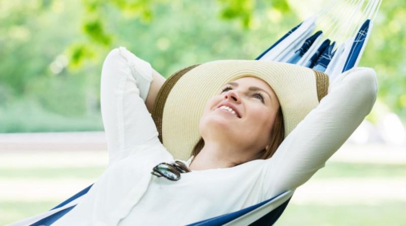 lady on hammock