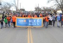 Photo of CPS Energy team walking together in MLK march in 2020