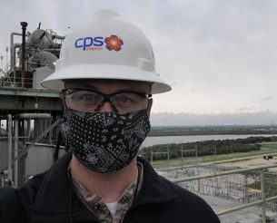 Jerry Naylor in CPS Energy hardhat