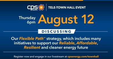 Graphics for CPS Energy Tele-Townhall on August 12, 2021