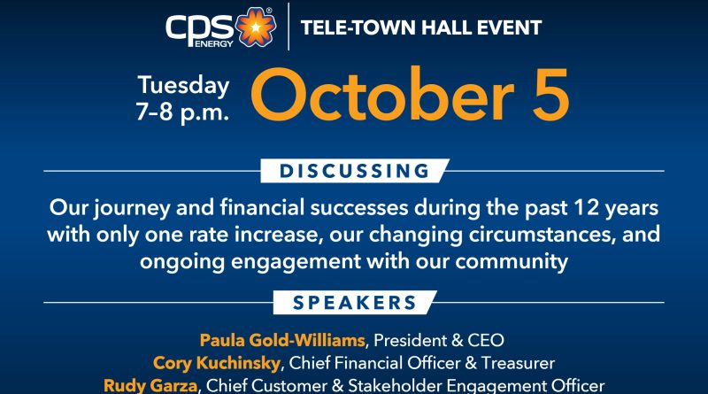 CPS Energy invites customers to join and participate in Tele-Town Hall Series
