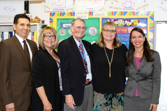 Teacher of the Year Lisa Moloney with administrators