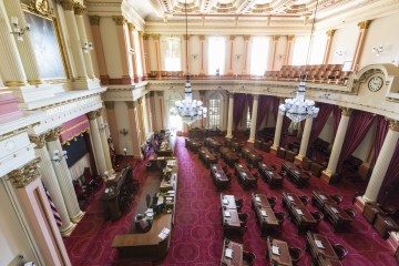 An image of the interior of California's Capitol Building