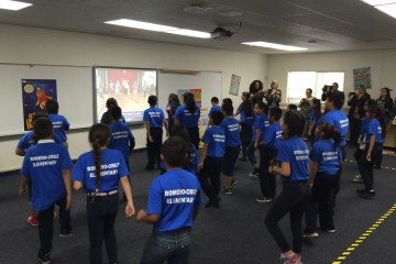 Students use a Fit Kid Center in Santa Ana