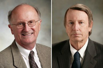 Orange County Board of Education members Jack Bedell and David Boyd