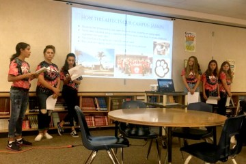 Students giving a PowerPoint presentation