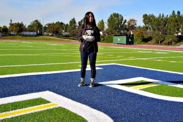 Beckman High student Sara Du